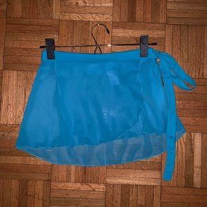 Capezio Jet Blue wrap skirt
